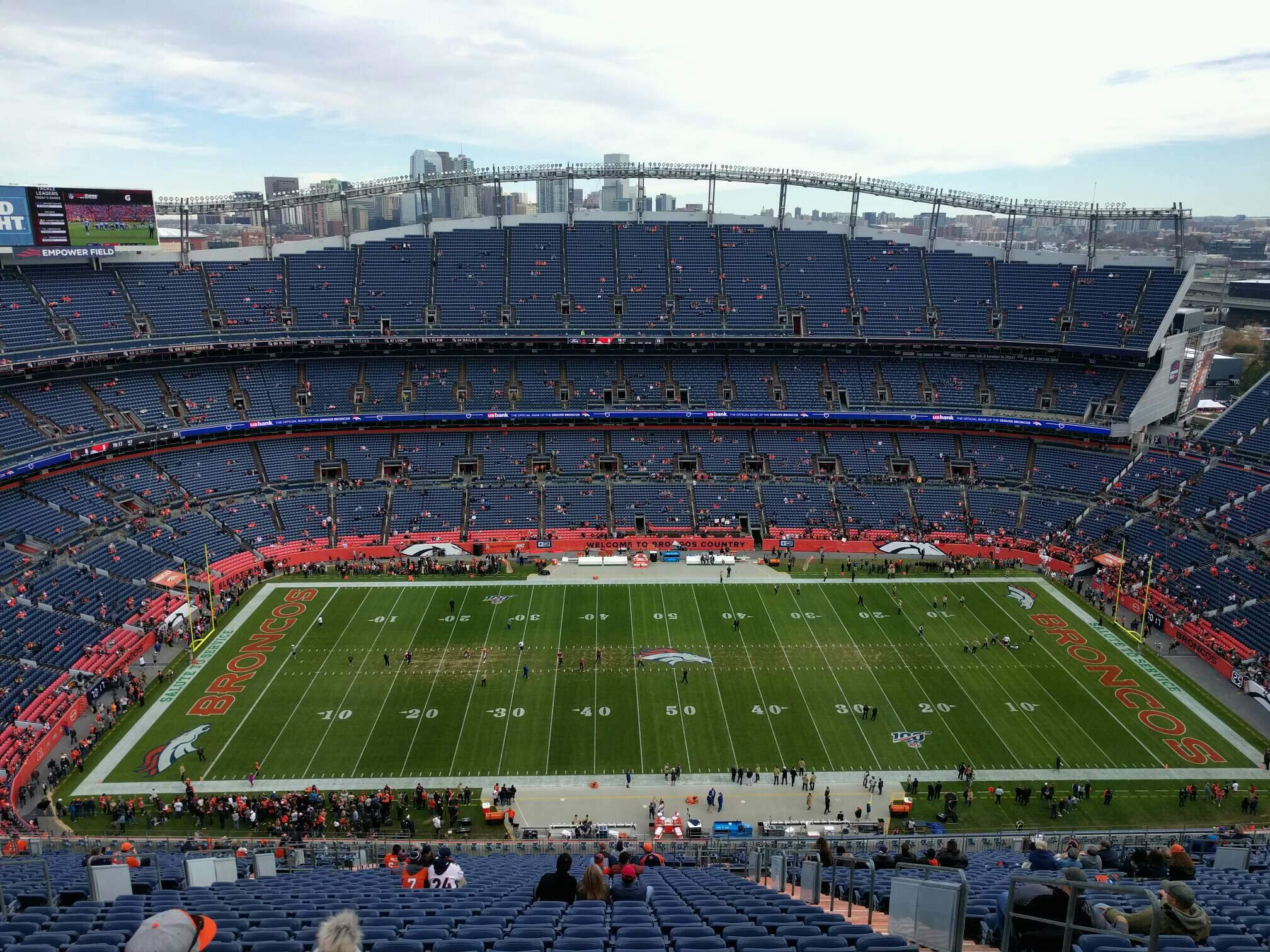 Empower Field at Mile High Stadium Section 509 Rangée 35 Siège 5