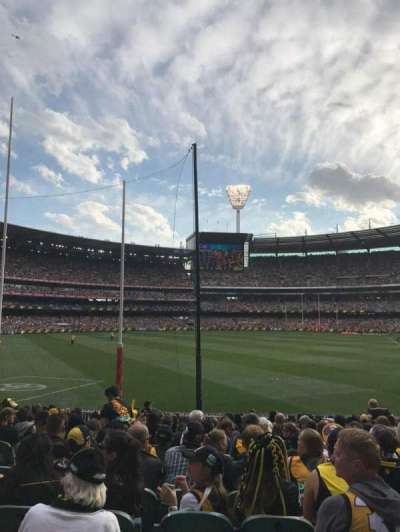 Melbourne Cricket Ground, section: M1, rangée: Q, siège: 14