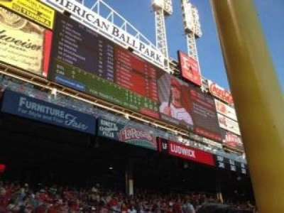 Great American Ball Park, section: 107, rangée: T