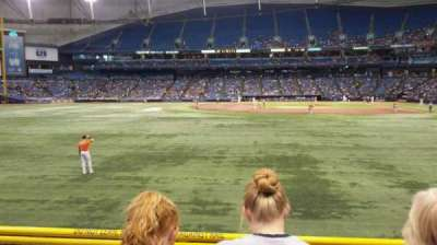 Tropicana Field, section: 143, rangée: V, siège: 6