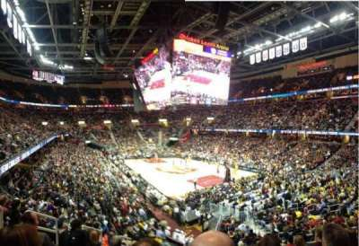 Quicken Loans Arena, section: 133, rangée: 17