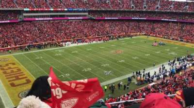 Arrowhead Stadium, section: 306, rangée: 6, siège: 15