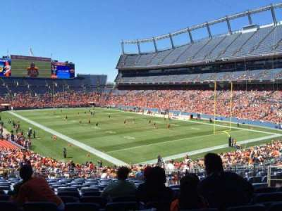 Empower Field at Mile High Stadium section 117