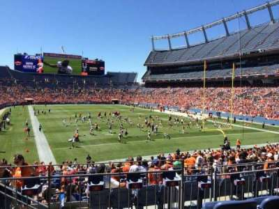 Empower Field at Mile High Stadium section 116
