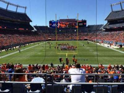 Empower Field at Mile High Stadium section 114