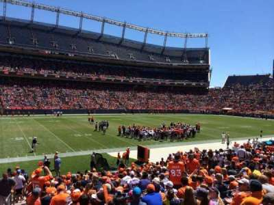 Empower Field at Mile High Stadium section 107