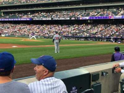 Coors Field section 141