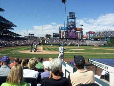 Coors Field section 126