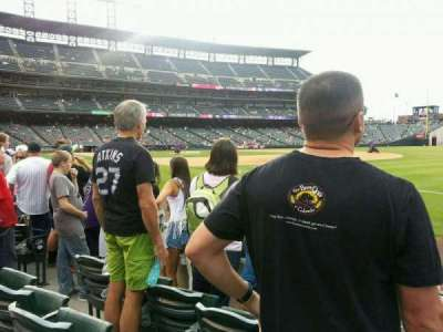 Coors Field section 117