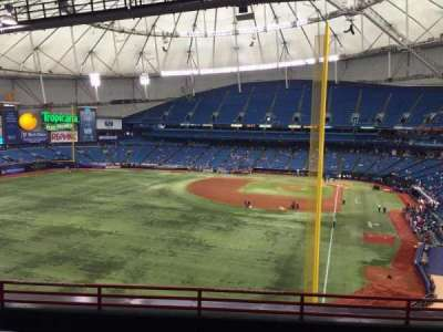 Tropicana Field, section: 345, rangée: F, siège: 26