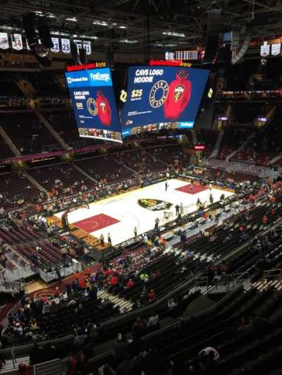 Quicken Loans Arena, section: 222, rangée: 1, siège: 9