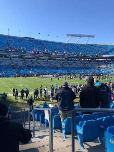 Bank of America Stadium, section: 116, rangée: 9, siège: 1