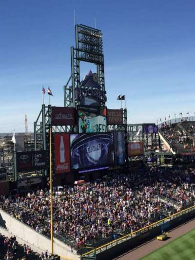 Coors Field section L343