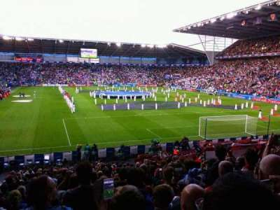Cardiff City Stadium, section: 126, rangée: y, siège: 100
