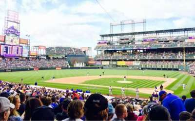 Coors Field section 134