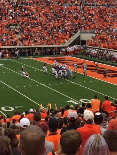 Boone Pickens Stadium, section: 224, rangée: 21, siège: 42
