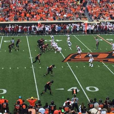 Boone Pickens Stadium, section: 207, rangée: 25, siège: 6