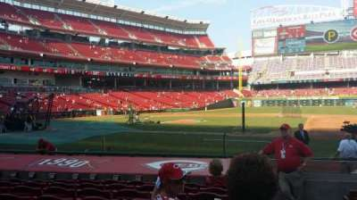Great American Ball Park, section: 130, rangée: M, siège: 1