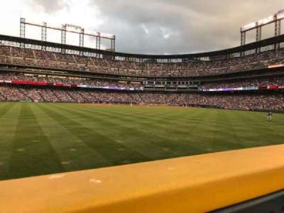 Coors Field section 155