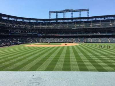 Coors Field section 105