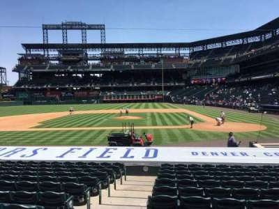 Coors Field section 136