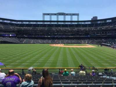 Coors Field section 153