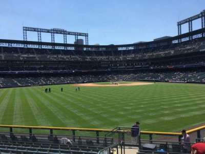 Coors Field section 158