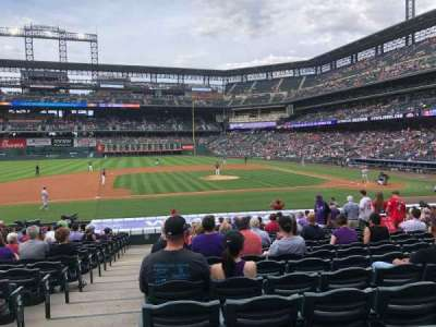 Coors Field section 138