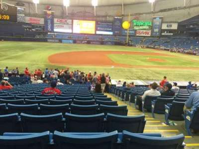 Tropicana Field, section: 119, rangée: BB, siège: 9