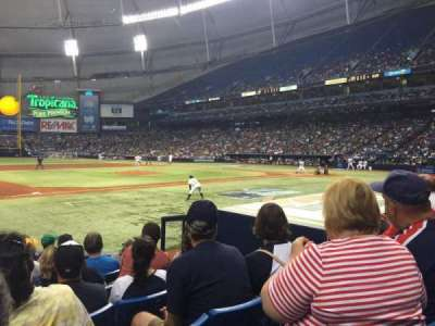 Tropicana Field, section: 119, rangée: M, siège: 9