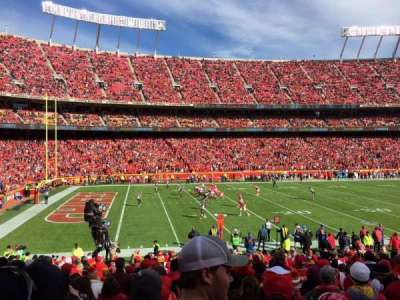 Arrowhead Stadium section 122