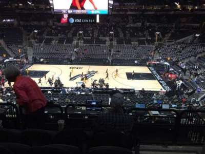 AT&T Center, section: 107, rangée: 32, siège: 1and3