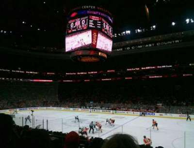 Wells Fargo Center, section: 115, rangée: 16, siège: 4
