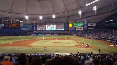 Tropicana Field, section: 111, rangée: GG, siège: 8