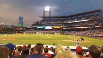Citizens Bank Park, section: 129, rangée: 9, siège: 2