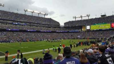 M&T Bank Stadium, section: 132, rangée: 11, siège: 8