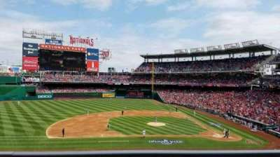 Nationals Park, section: 208, rangée: A, siège: 7