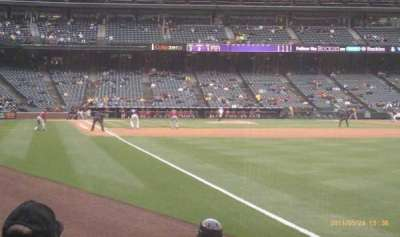 Coors Field section 112