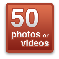50 photos or videos