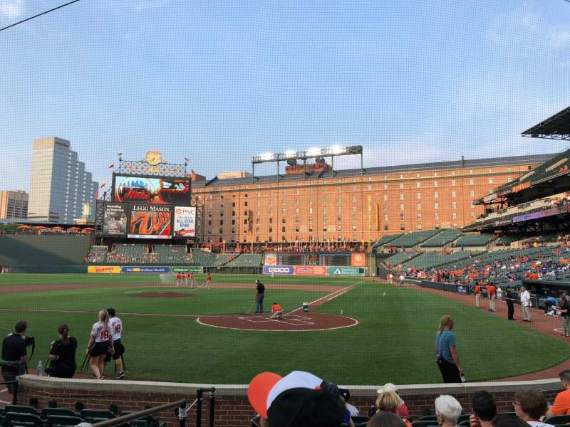 Oriole Park at Camden Yards, section: 42, rangée: 9, siège: 6