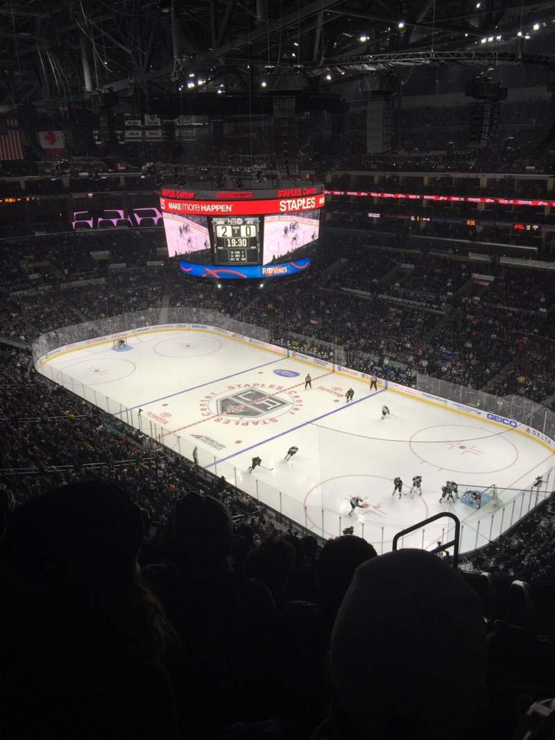 Staples Center, section: 314, rangée: 8, siège: 2