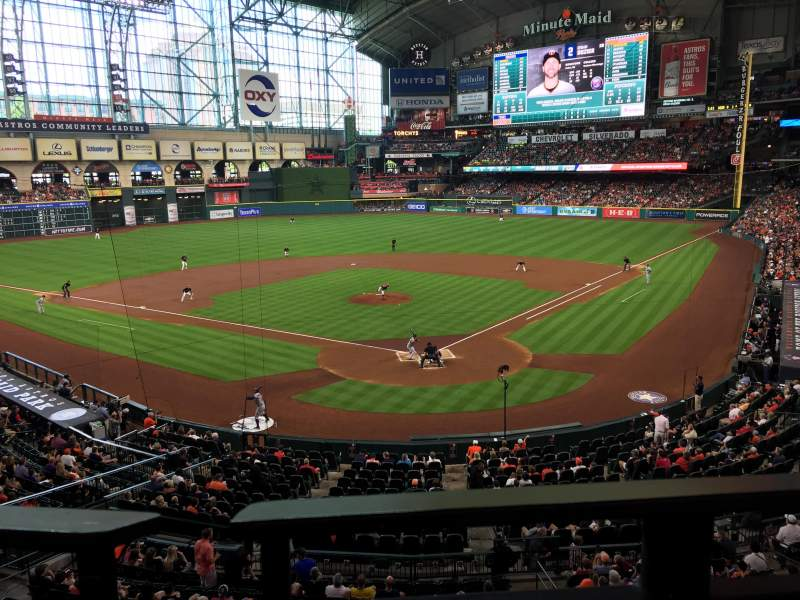 Minute Maid Park, section: 218, rangée: 1, siège: 8