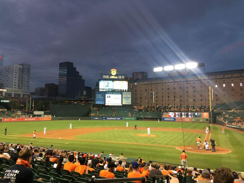Oriole Park at Camden Yards, section: 42, rangée: 20