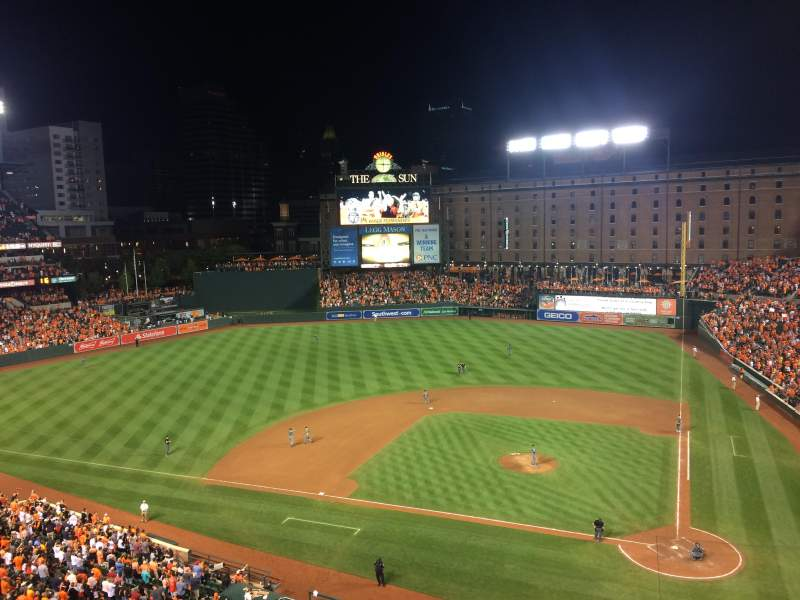 Oriole Park at Camden Yards, section: 348, rangée: 3
