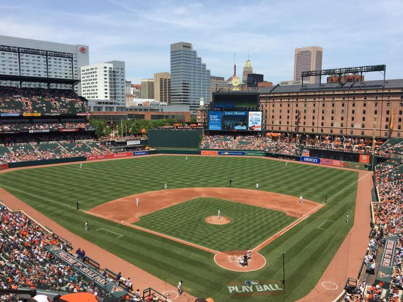 Oriole Park at Camden Yards, section: 340, rangée: 5