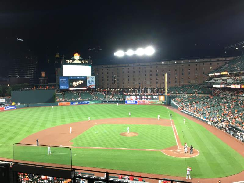 Oriole Park at Camden Yards, section: 244, rangée: 4