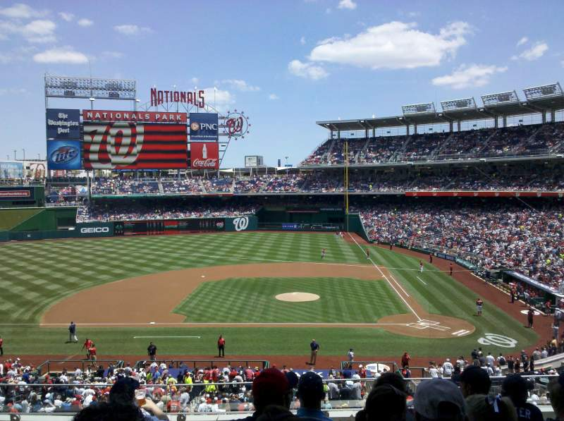 Nationals Park, section: 209, rangée: F, siège: 10