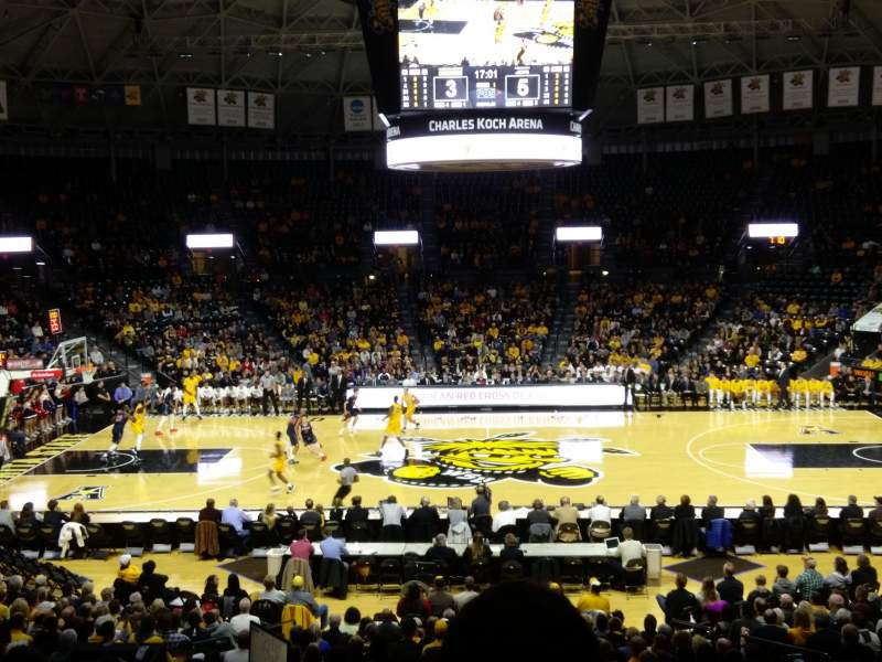 Charles Koch Arena, section: 108, rangée: 22
