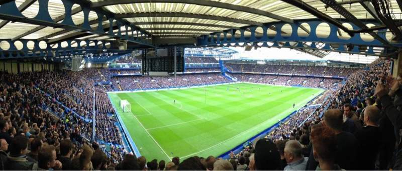 Vue de la place pour Stamford Bridge Section Shed End Upper 1 Rangée 20 Siège 20
