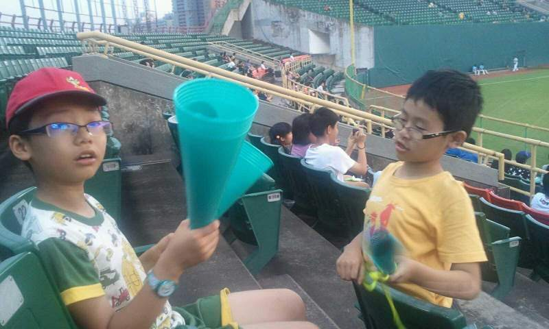 Vue de la place pour Taichung Intercontinental Baseball Stadium Section outfield